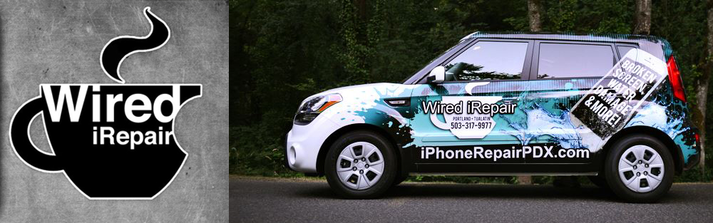 Wired iRepair Logo and Cars